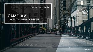 Game Jam: Serious Games für Schulungen gegen Privacy – und Security-Risiken